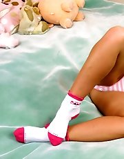 16 pictures - Young chubby beauty poses in pink cotton panties